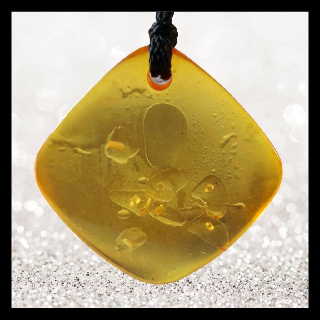 Balanssteen hanger geel